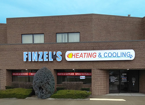 Finzels Heating and Cooling New Store Front